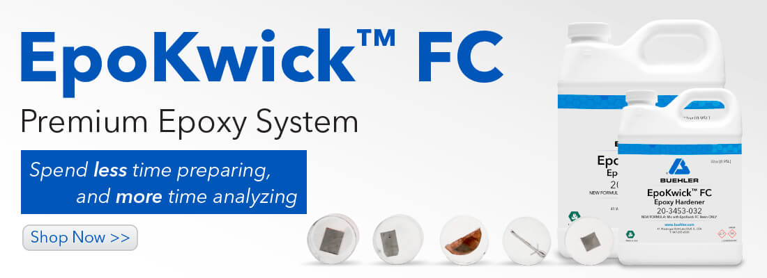 Spend less tiem preparing and more time analyzing with EpoKwick FC Premium Epoxy System.